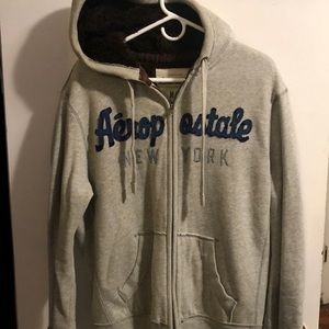 Aeropostale fur lined zip up hoodie